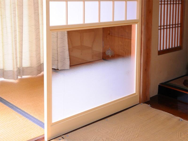 障子用ガラス(ぼかし山水)1